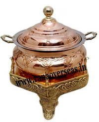 Copper Brass Combination Chafing Dish