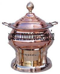 Copper Brass Combination Chafing Dish artistic hand look