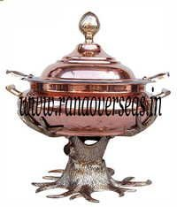 Copper Brass Combination Chafing Dish in Tree Style