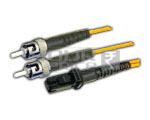 MTRJ-ST Patch Cord, Single Mode, Duplex, Length 5 Meters