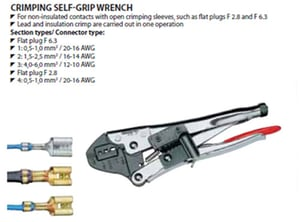 Crimping self - Grip Wrench