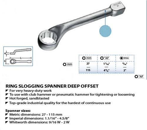Gedore  Slogging  Spanner  Deep  Offset