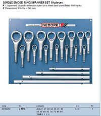 Gedore Germany Single Ended Ring Spanner set