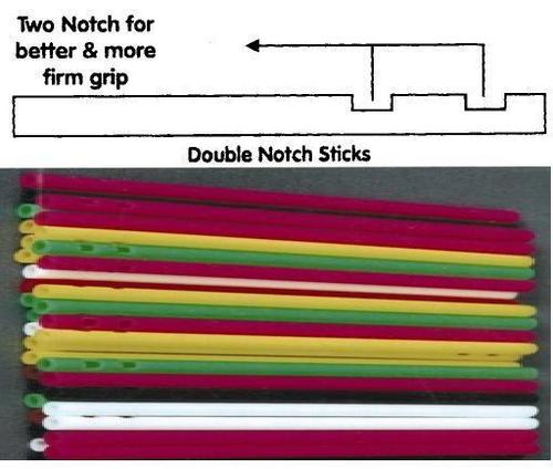 Double Notch Lollipop Sticks