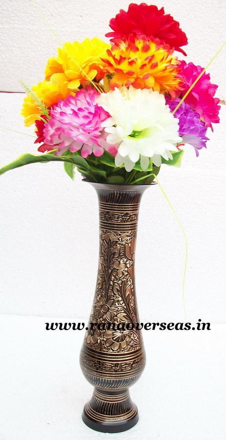 Brass Metal Flower Vase