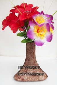 handcrafted Aluminium Metal Flower Vase in 8 inches