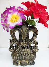 handcrafted Aluminium Metal Flower Vase in 12 inches