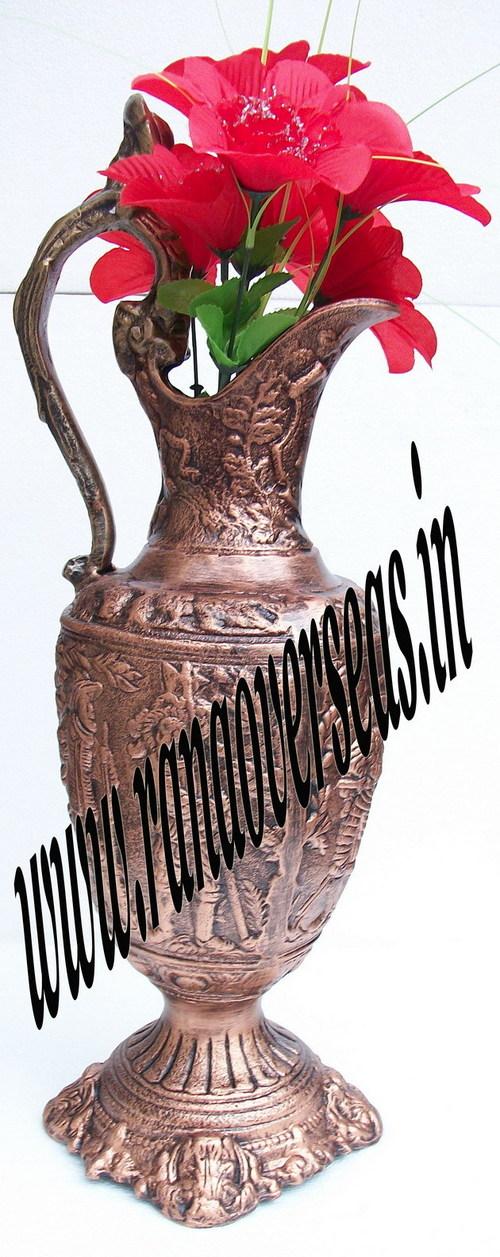 Copper Finish Aluminium Metal Flower Vase