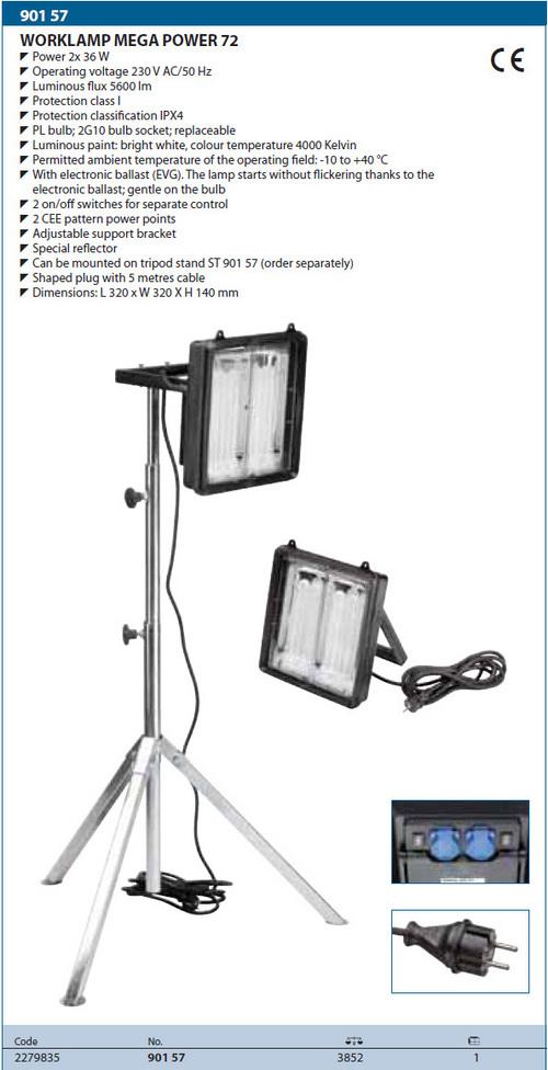Gedore Worklamp  mega  power 72
