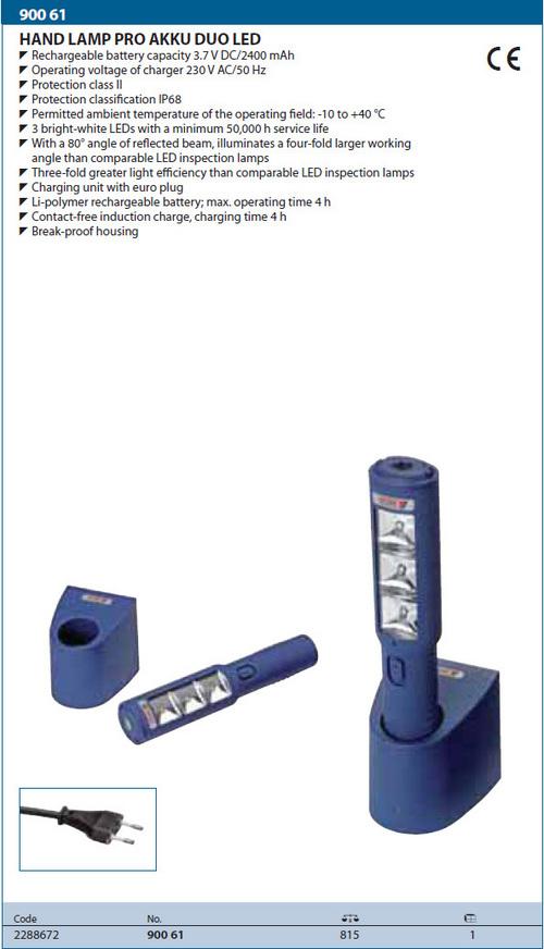 Gedore Hand Lamp Pro  Akku Duo Led