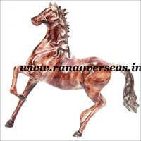 Aluminium Running Style Metal Horse in 15 Inches