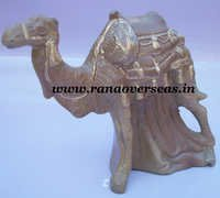 Aluminium Metal Engraved Standing Camel in 6 x 6 Inch.