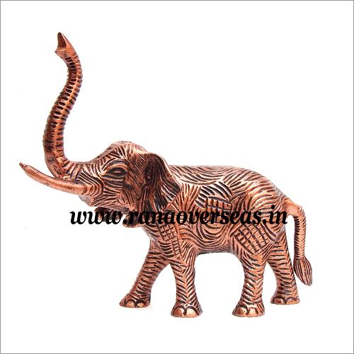 Copper Finish Aluminium Metal Elephant in 10 x 12 Inches