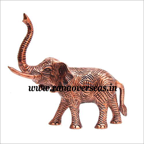 Copper Finish Aluminium Metal Elephant in 10 x 12 Inches