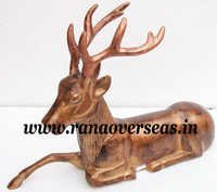 Aluminium Metal Swamp Deer for home Decoration in 13 x 20 Inches