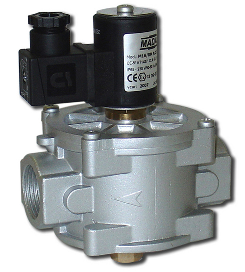 Manual Reset Gas Solenoid Valves