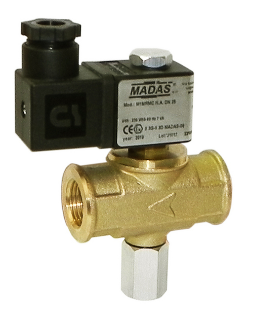 Brass body manual reset Solenoid Valves