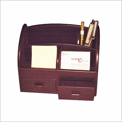 Metropolitan Leather Desk Organiser
