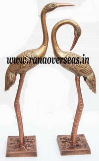 Pair of Aluminium Metal Crane With Wings in 22 and 24 inch