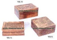Mango Wood Carved Boxes.