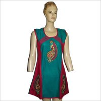 Cotton Embroidered Fancy Kurtis