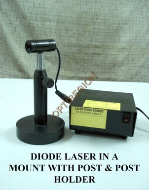 Diode Laser In a Mount with Post & Post Holder