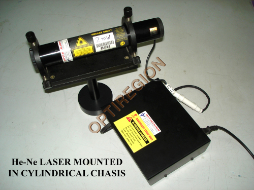 HE-NE Laser Mounted In Cylindrical Chassis
