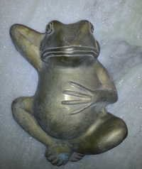 Brass Frog Sculpture