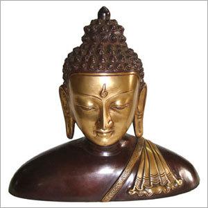 Buddha Bust W/ Shawl