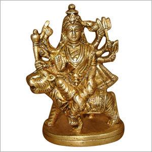 Durga Sitting On Loin