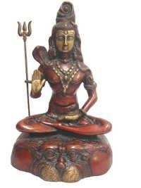 Meditating Shiva Statues