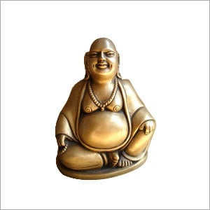 Happy Man Sitting Statue