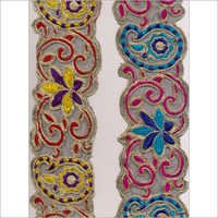 Multi Colored Embroidered Lace