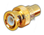 BNC Plug TO RCA Socket Adaptor (Gold Plated)