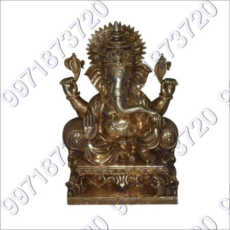 Brass Ganesh Sculpture