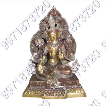 Antique Brass Buddha