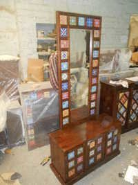 Wooden Furniture with Ceramic Tile