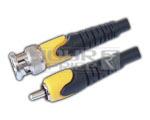 BNC Plug TO RCA Plug Cord Moulded