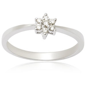 flower diamond ring for small girls white gold jewelry ring suppliers