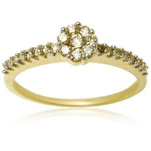 Prong Setting Gold Diamond Ring