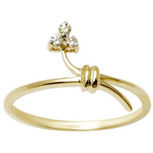 Sleek Knot Design Yellow Gold Ring
