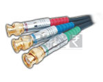 3 BNC Plug to 3 BNC Plug Cord Low Noise Digital Cable - 3 Meters