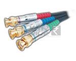 3 BNC Plug to 3 BNC Plug Cord Low Noise Digital Cable - 5 Meters
