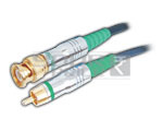 BNC Plug to RCA Plug Cord Low Noise Digital Cable - 3 Meters