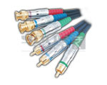BNC Plug to 3 RCA Plug Cord Low Noise Digital Cable - 3 Meters