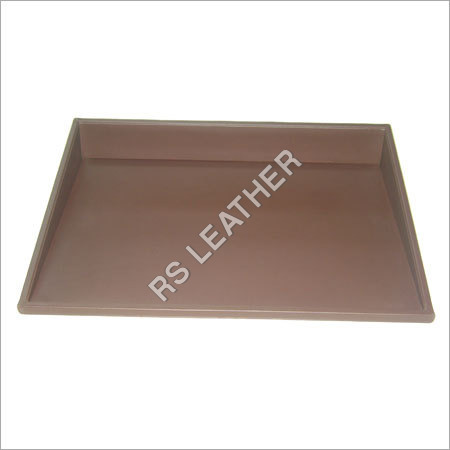 Leatherette Brown Slanted Tray
