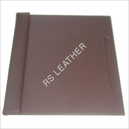 Brown Leatherette Blotter with Magnetic Flap
