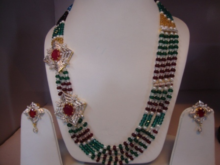 Multi Color Side Pendant Necklace