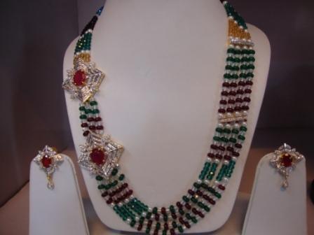 Multi Color Side Pendant Necklace
