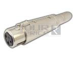XLR 3 Pin Mic Ext. Female to TS Mono Female Adapter